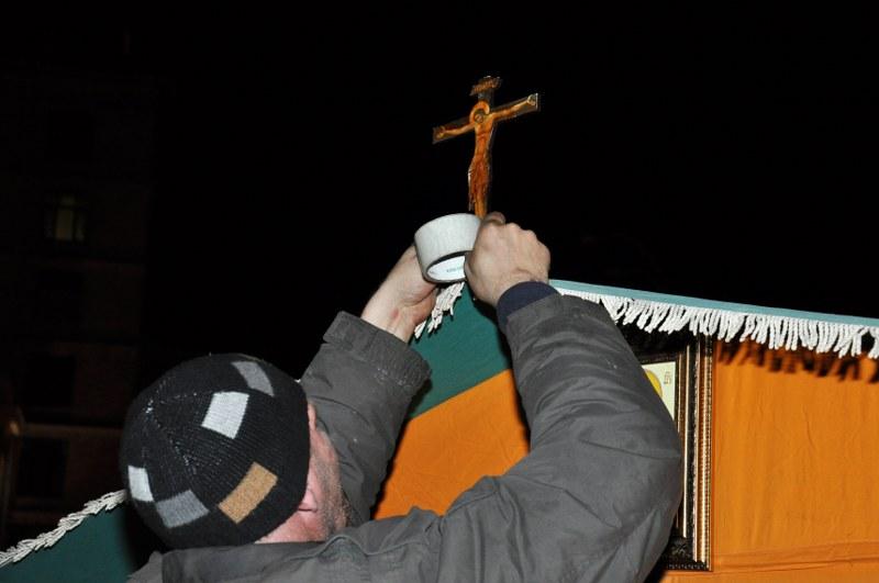 Священики УГКЦ встановили польову каплицю на Майдані