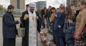 Блаженніший Святослав освятив великодні кошики для вимушено переселених осіб